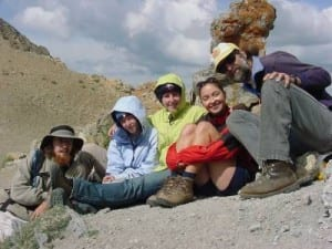 RMBL class on Triangle Pass - photo from RMBL Archives