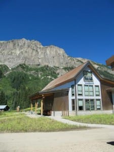 The Community Center and Gothic Mountain - photo by Gesa Michel