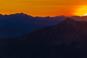 Sunrise Over Crested Butte from Mt.Axtel